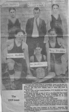 Bordelonville Basketball 1925